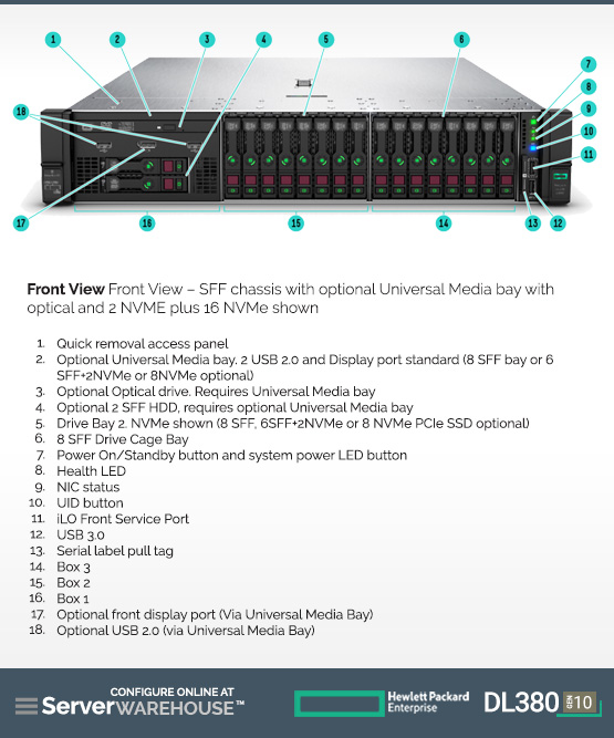 HPE ProLiant DL380 Gen10 Server HPE ProLiant Rack Servers